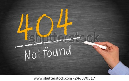 404 - Not found - Error - stock photo