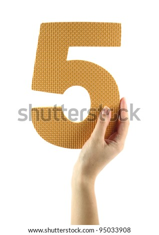 Number five - stock photo