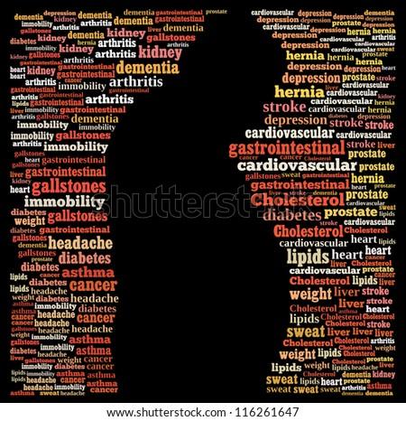 Obesity complex: text image - stock photo