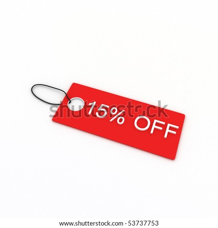 15% OFF - stock photo