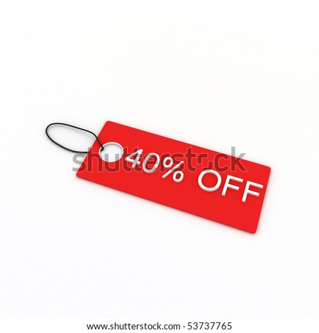 40% OFF - stock photo