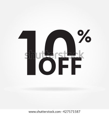 10% off. Sale and discount price sign or icon. Sales design template. Shopping and low price symbol.  - stock photo