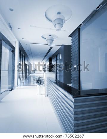 office corridor - stock photo