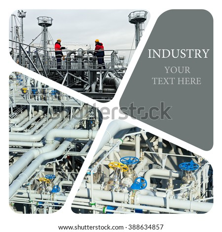 Oil And Gas Industry.  Industrial concept - stock photo