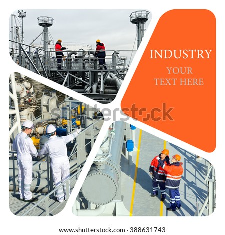 Oil And Gas Industry. Industrial photo collage.  Industrial. Industrial concept - stock photo
