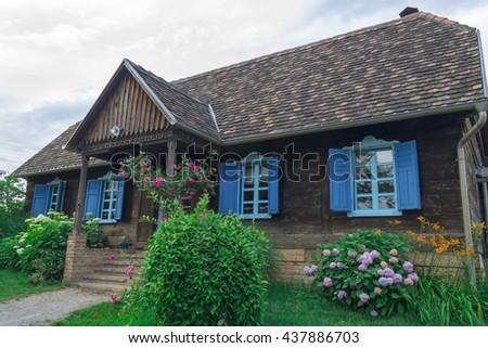 Old beautiful rustic house in Croatia  - stock photo