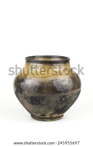 Old  clay pot - stock photo