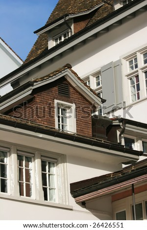 old house (Zurich, Switzerland) - stock photo