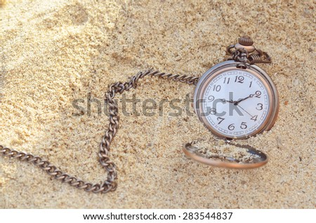 old pocket on beach - stock photo