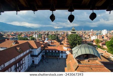 old Royal Palace, Durbar Square in Kathmandu, Nepal. - stock photo