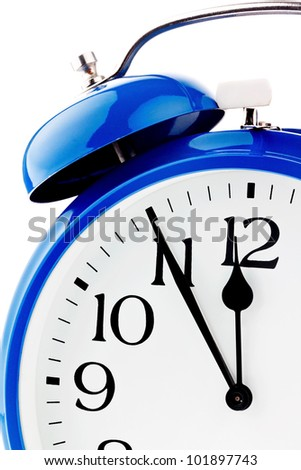 11:55 on a clock. veit for decisions - stock photo