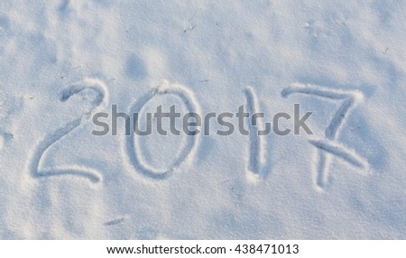 2017 on the snow for the new year and christmas - stock photo