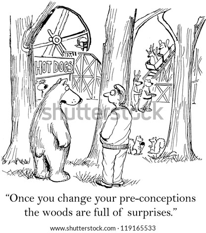 """Once you change your pre-conceptions the woods are full of surprises."" - stock photo"