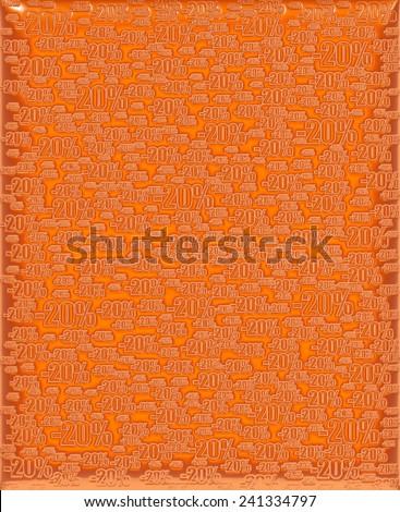 20% orange background - stock photo