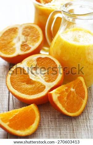 Orange juice-Orange smoothie  - stock photo