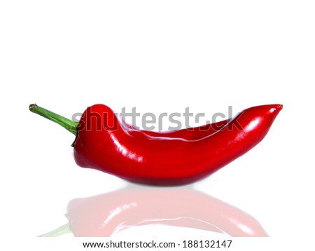organic red pepper             - stock photo