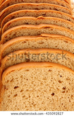 Organic wheat bread Closeup ,Selective focus photograph. - stock photo