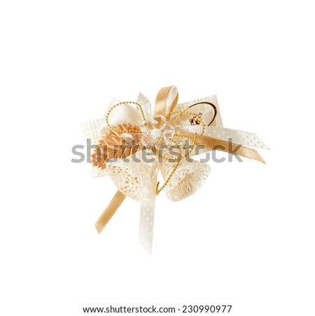 Original Christmas bells of design material  isolated  over  white  background - stock photo