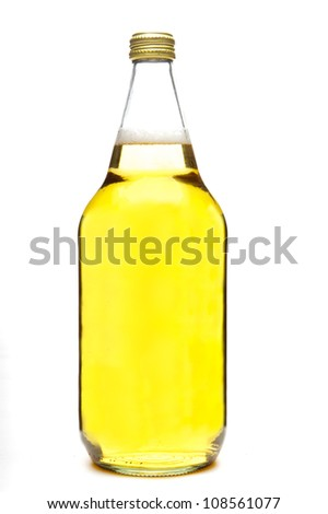 40 ounce beer bottle, isolated on white background - stock photo