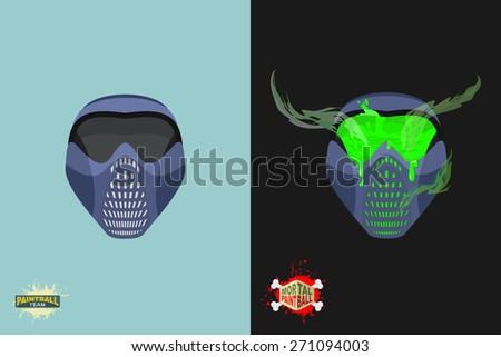 paintball  Mortal mask. - stock photo