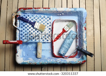 painting tools for household use - stock photo