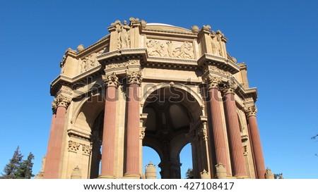 Palace of fine arts , San francisco - stock photo