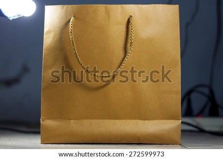 Paper Shopping Bag - stock photo