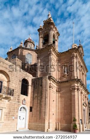 Parish church   in Gozo, Malta - stock photo