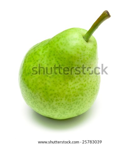 pear on a white background isolated - stock photo