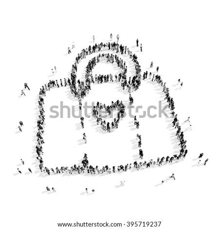 people  shape  female bag - stock photo