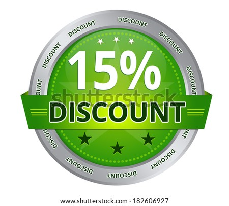 15 percent Discount - stock photo
