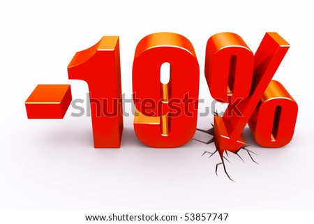 19 percent discount - stock photo