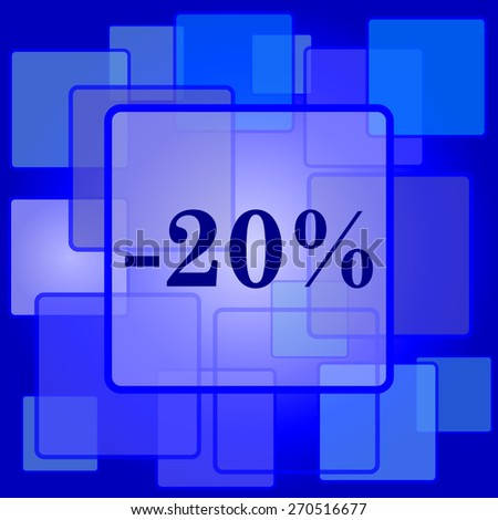20 percent discount icon. Internet button on abstract background.  - stock photo