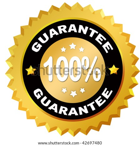 100 percent guarantee label - stock photo