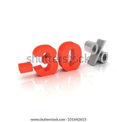 30 Percent off - stock photo
