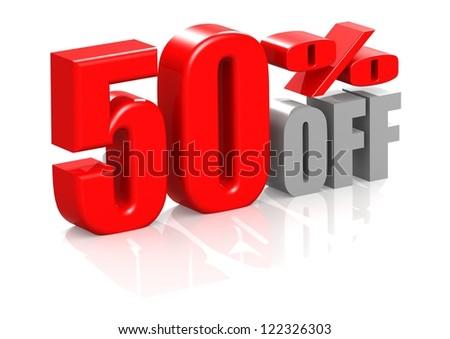50 percent off - stock photo