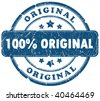 100 percent original grunge stamp - stock photo
