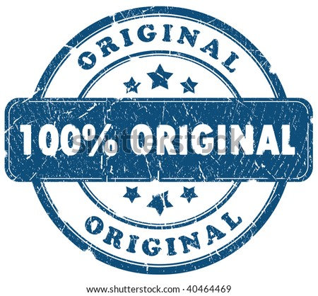 100 percent original grunge stamp - stock photo