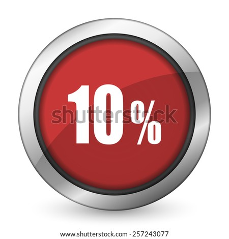 10 percent red icon sale sign  - stock photo