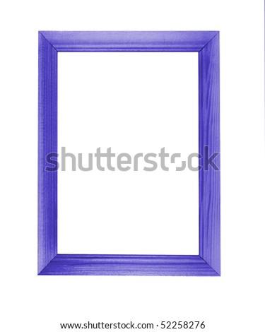 photo frame blue over white - stock photo