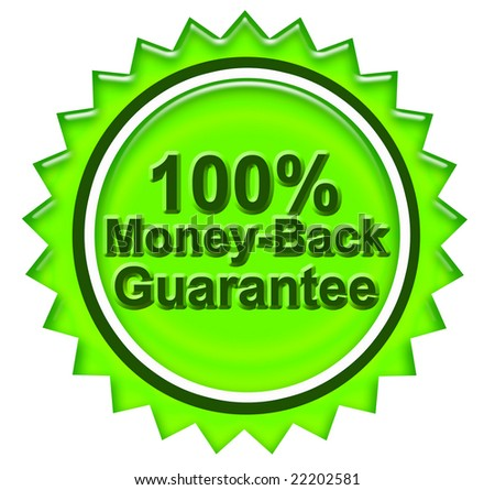 Photo of  Illustration of a guarantee sign - stock photo