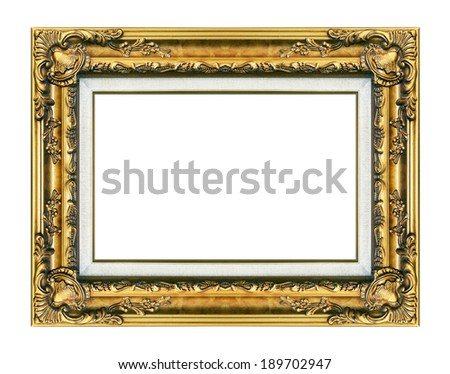 Picture frame isolated on white background. - stock photo