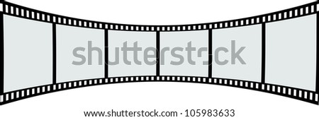 6 piece of film strip . - stock photo