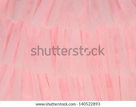 pink tulle fabric - stock photo