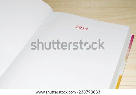 2015 planning agenda - stock photo