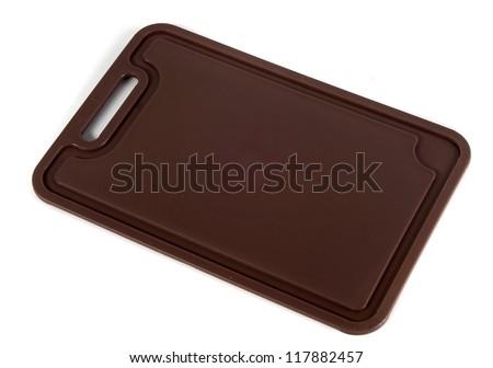 plastic chopping board - stock photo
