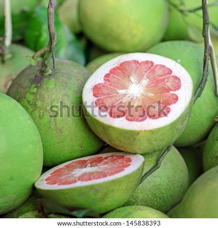 pomelo fruits - stock photo