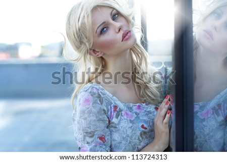 Pretty young blonde - stock photo