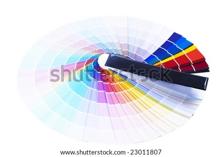 Printing color scale - stock photo
