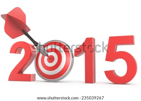 2015 Projection Target Showing Successful Future - stock photo